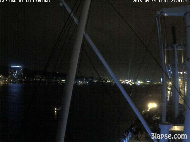 time-lapse frame, Hamburg Cruise Days 2015 webcam