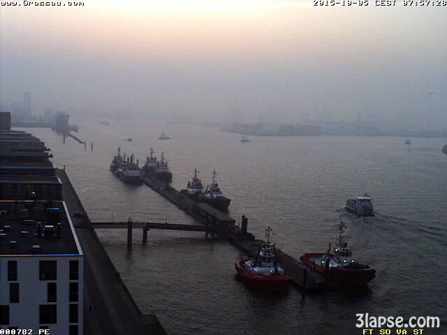 time-lapse frame, Hamburg sunrise webcam