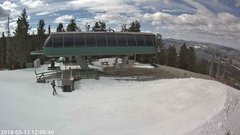 view from Angel Fire Resort - Chile Express on 2018-03-13