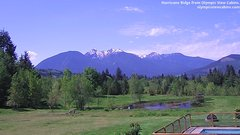 view from Olympic View Cabins Hurricane Ridge Cam on 2018-05-15
