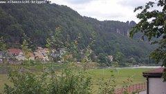 view from Webcam in Bad Schandau Sächsische Schweiz on 2018-06-14