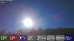 view from MeteoLive webcam SEREMANGE ERZANGE FR57 on 2018-02-13