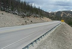view from 4 - Highway 50 Road Conditions on 2018-05-18