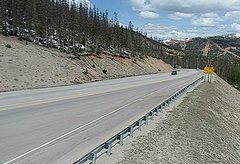 view from 4 - Highway 50 Road Conditions on 2018-05-19