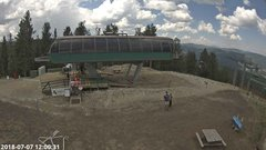 view from Angel Fire Resort - Chile Express on 2018-07-07