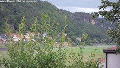 view from Webcam in Bad Schandau Sächsische Schweiz on 2018-06-22