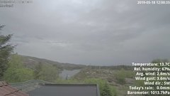 view from 1 Sotra island, W-Norway on 2019-05-18
