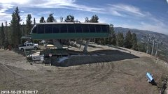 view from Angel Fire Resort - Chile Express on 2018-10-29