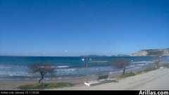 view from Arillas Corfu Live Webcam on 2019-01-15