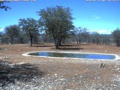 view from Sophienhof Lodge Waterhole on 2019-04-14