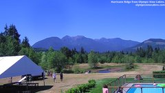 view from Olympic View Cabins Hurricane Ridge Cam on 2018-07-13