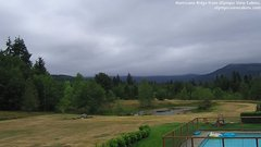 view from Olympic View Cabins Hurricane Ridge Cam on 2018-07-19