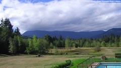 view from Olympic View Cabins Hurricane Ridge Cam on 2018-09-17
