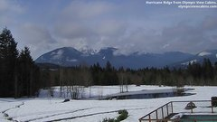 view from Olympic View Cabins Hurricane Ridge Cam on 2019-03-15