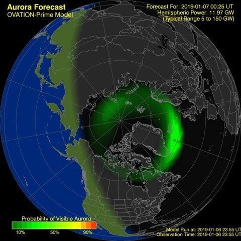 time-lapse frame, Aurora Forecast webcam