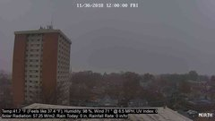 view from University Place Apartments - North Weather on 2018-11-30
