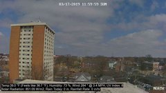 view from University Place Apartments - North Weather on 2019-03-17