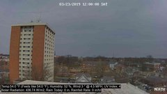 view from University Place Apartments - North Weather on 2019-03-23