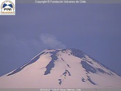 view from Villarrica Volcano on 2019-02-05