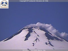 view from Villarrica Volcano on 2019-02-11