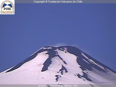 view from Villarrica Volcano on 2019-02-15