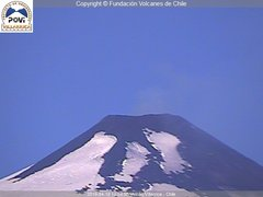 view from Villarrica Volcano on 2019-04-10