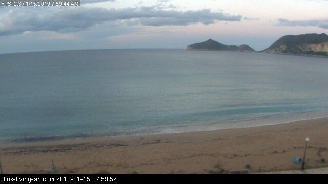time-lapse frame, Agios Georgios NW Corfu Greece webcam