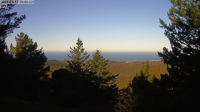 time-lapse frame, Kings Mountain webcam