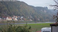 view from Webcam in Bad Schandau Sächsische Schweiz on 2018-10-09