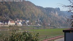 view from Webcam in Bad Schandau Sächsische Schweiz on 2018-10-17