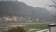 view from Webcam in Bad Schandau Sächsische Schweiz on 2018-12-01