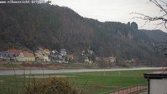 view from Webcam in Bad Schandau Sächsische Schweiz on 2018-12-06