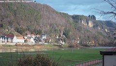 view from Webcam in Bad Schandau Sächsische Schweiz on 2018-12-08