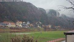 view from Webcam in Bad Schandau Sächsische Schweiz on 2018-12-12