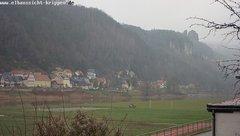 view from Webcam in Bad Schandau Sächsische Schweiz on 2018-12-13