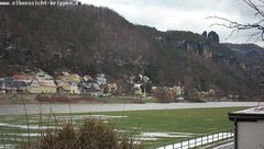 view from Webcam in Bad Schandau Sächsische Schweiz on 2019-01-18