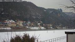 view from Webcam in Bad Schandau Sächsische Schweiz on 2019-02-05