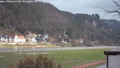 view from Webcam in Bad Schandau Sächsische Schweiz on 2019-02-12