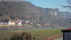 view from Webcam in Bad Schandau Sächsische Schweiz on 2019-02-16