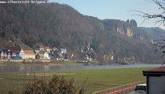 view from Webcam in Bad Schandau Sächsische Schweiz on 2019-03-06