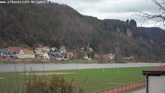 view from Webcam in Bad Schandau Sächsische Schweiz on 2019-03-18
