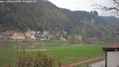 view from Webcam in Bad Schandau Sächsische Schweiz on 2019-04-12