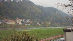 view from Webcam in Bad Schandau Sächsische Schweiz on 2019-04-14