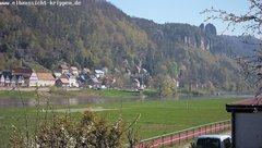 view from Webcam in Bad Schandau Sächsische Schweiz on 2019-04-16