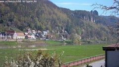view from Webcam in Bad Schandau Sächsische Schweiz on 2019-04-17