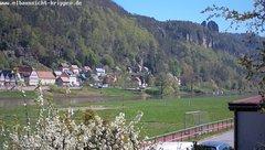 view from Webcam in Bad Schandau Sächsische Schweiz on 2019-04-21