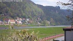 view from Webcam in Bad Schandau Sächsische Schweiz on 2019-04-23