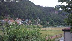 view from Webcam in Bad Schandau Sächsische Schweiz on 2019-06-08