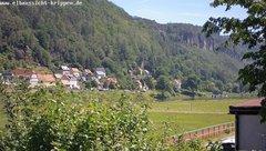 view from Webcam in Bad Schandau Sächsische Schweiz on 2019-06-14