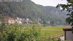 view from Webcam in Bad Schandau Sächsische Schweiz on 2019-06-15